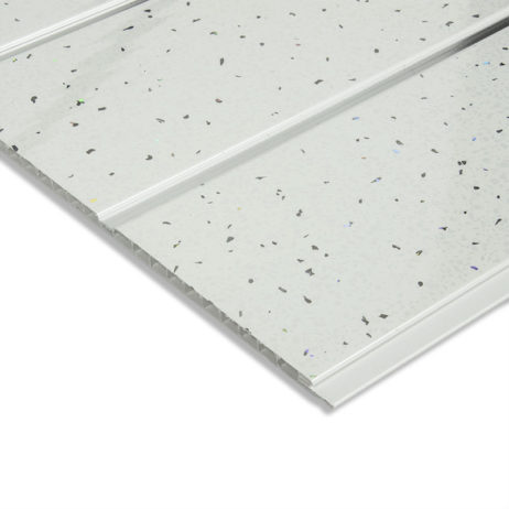 white sparkle ceiling cladding