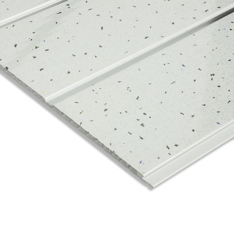 white sparkle ceiling cladding