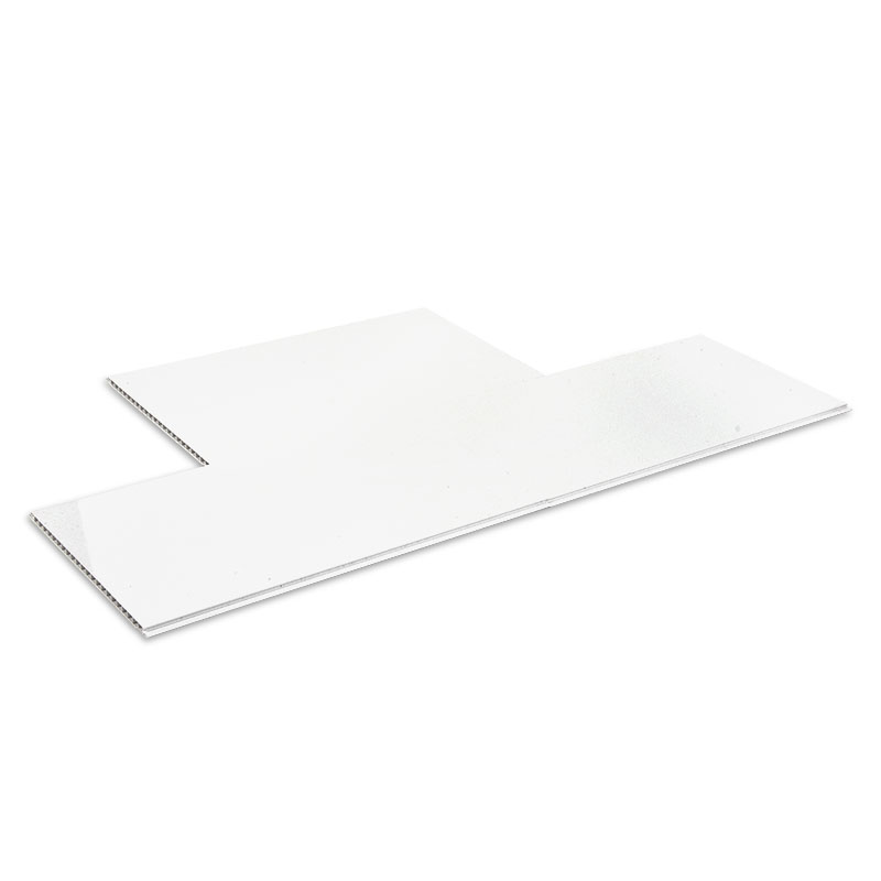 Shiny White PVC wall cladding