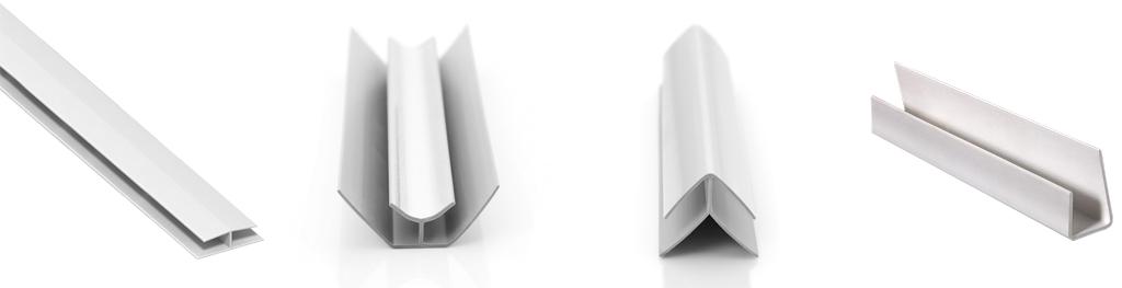 PVC wall cladding finishing trims