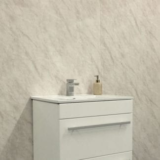 Grey marble shower cladding