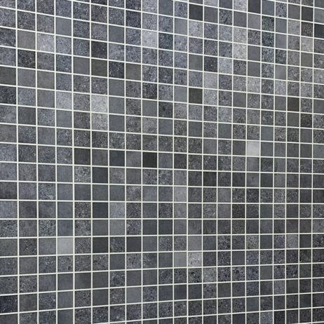 Blue mosaic wall panels