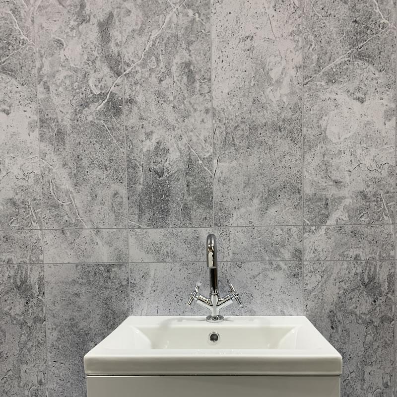 grey stone border wall cladding