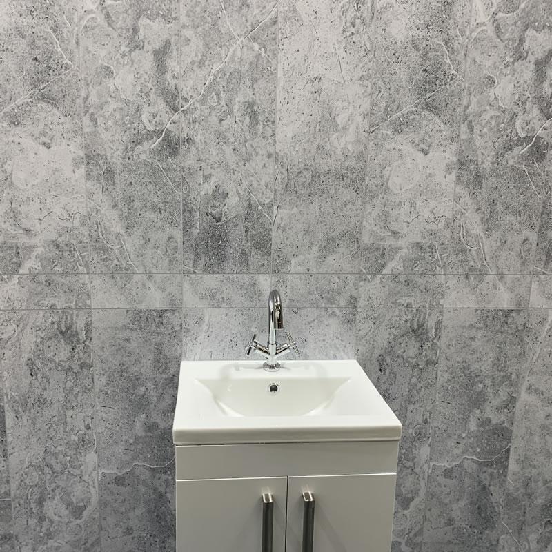 Bathroom Wall Cladding Grey Stone, Boards For Bathroom Walls