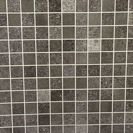 Mosiac grey bathroom wall cladding