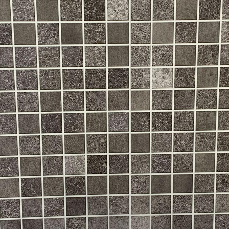 Mosiac grey bathroom wall cladding